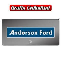 Dealership Decal, Anderson Ford