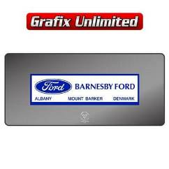 Dealership Decal, Barnesby Ford