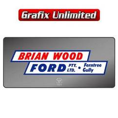Dealership Decal, Brian Wood Ford