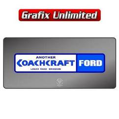 Dealership Decal, Coachcraft Ford