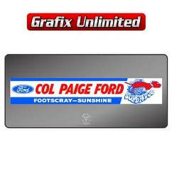 Dealership Decal, Col paige
