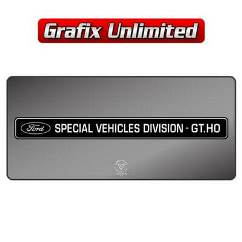 Dealership Decal, Ford Special Vehicles GT.HO