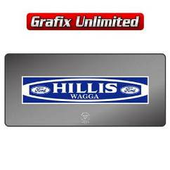 Dealership Decal, Hillis Ford Wagga