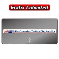 Dealership Decal, Holden Commodore