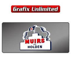 Dealership Decal, Muirs for Holden