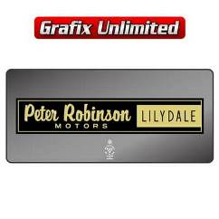 Dealership Decal, Peter Robinson Lilydale