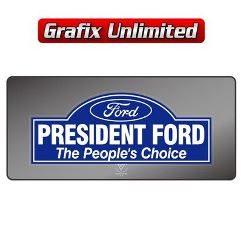 Dealership Decal, President Ford