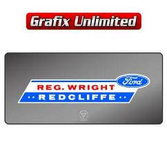 Dealership Decal, Reg Wright Ford