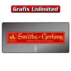 Dealership Decal, Smiths of Geelong