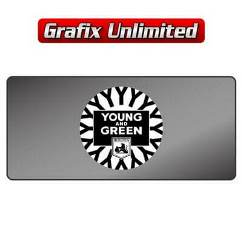 Dealership Decal, Young & Green Holden