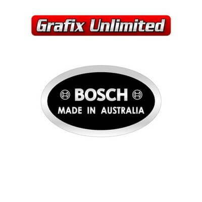 Alternator Decal Bosch