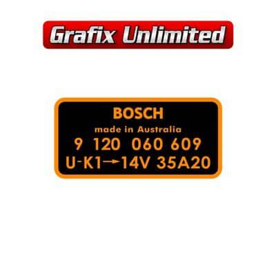 Alternator Decal Bosch 9 120 060 609