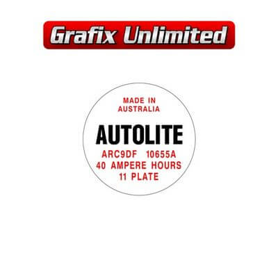 Battery Decal Autolite 40 Amp