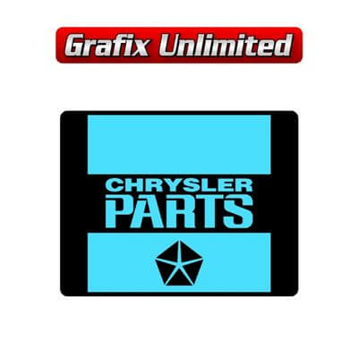 Bettery Decal Chrysler Parts