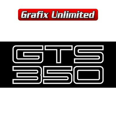 Boot Decal GTS 350