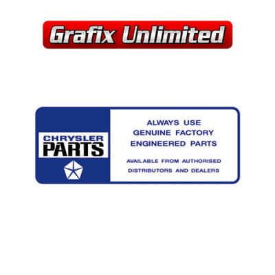 Chrysler Genuine Parts Decal Dark Blue