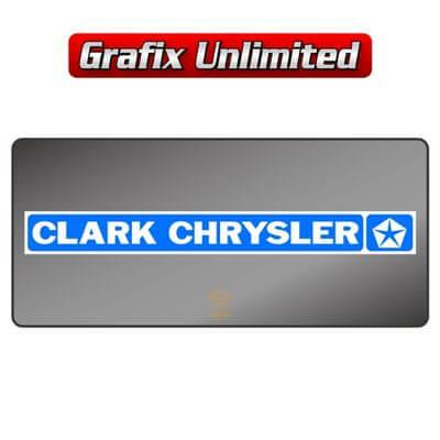 Dealership Decal Clark Chrysler