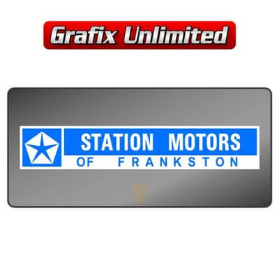 Dealership Decal Station Motors