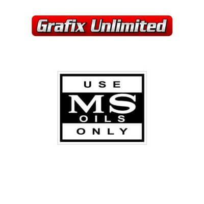 MS Oils Decal