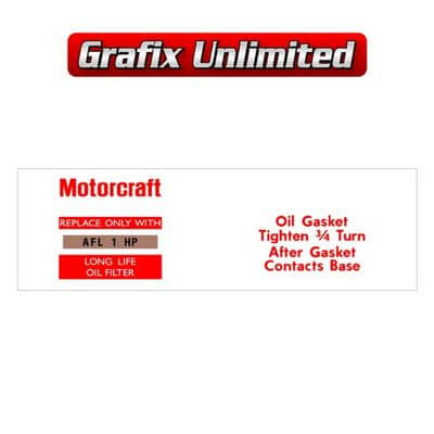 Oil Filter Decal Motorcraft