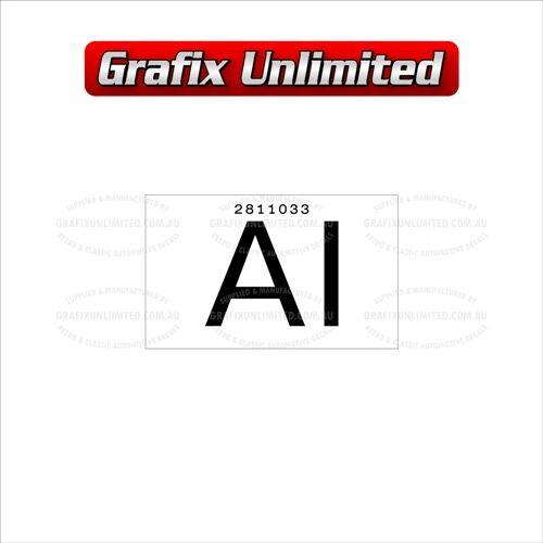 Part Label Radiator AI 2811033