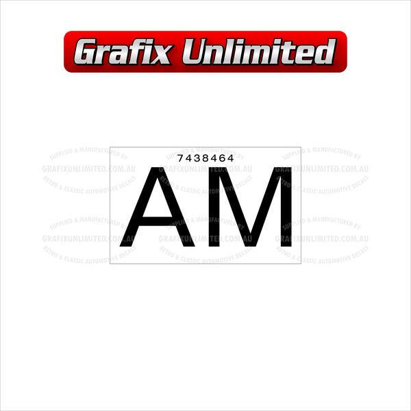 Part Label Radiator AM 7438464