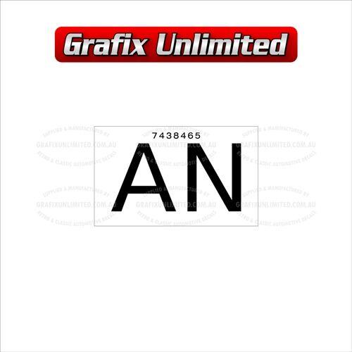 Part Label Radiator AN 7438465