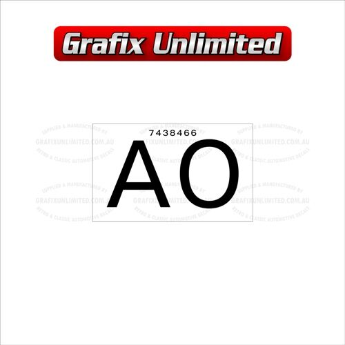Part Label Radiator AO 7438466