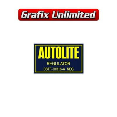 Regulator Cover Decal Autolite