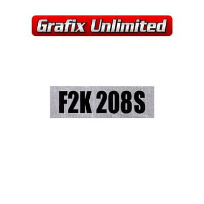 Rocker Cover Decal Clothe F2K208S