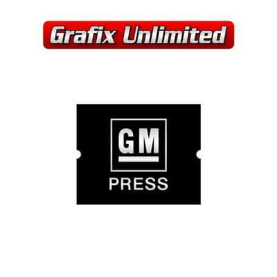 Seat Belt Decal GM Press Embossed