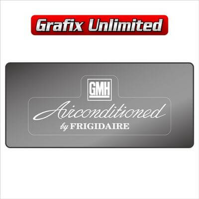 Windscreen Decal GMH Airconditioned by Frigidaire