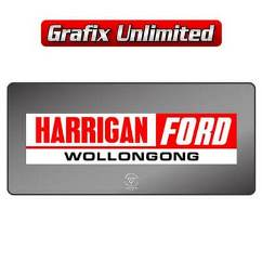 Dealership Decal, Harrigan Ford Wollongong