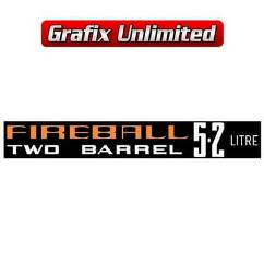 Aircleaner Decal, Fireball 5.2 Litre Two Barrel