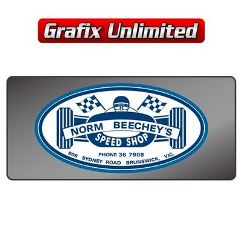 Dealership Decal, Norm Beecheys Speed Shop