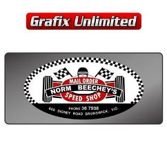 Dealership Decal, Norm Beecheys Speed Shop Mail Order 1
