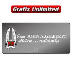 Dealership Decal, John A. Gilbert