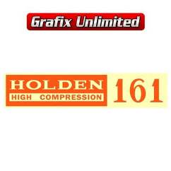 Rocker Cover Decal, 161 Holden High Compression
