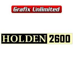 Rocker Cover Decal, Holden 2600 Type 1