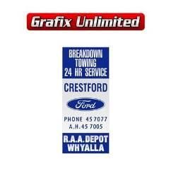 Dealership Decal, Crestford Breakdown Service