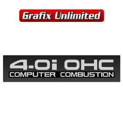 4.0i OHC Computer Combustion Decal