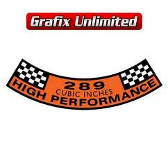 Aircleaner Decal, 289 High Performance