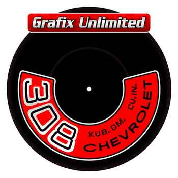 Aircleaner Decal 308 Chevrolet