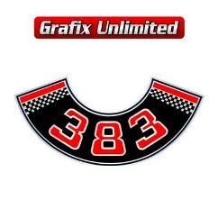 Aircleaner Decal, 383 Red
