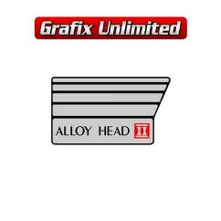 Aircleaner Decal, Alloy Head