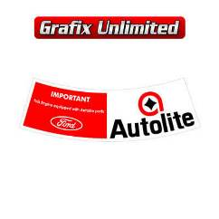 Aircleaner Decal, Autolite