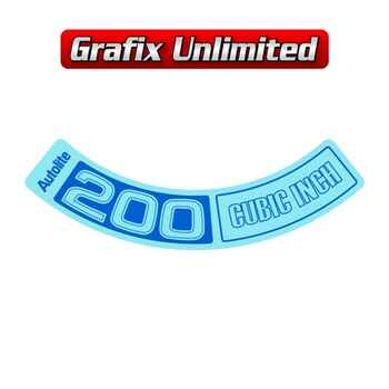 Aircleaner Decal, Autolite 200 Cubic Inch