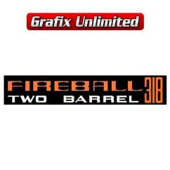 Aircleaner Decal, Fireball 318 Two Barrel