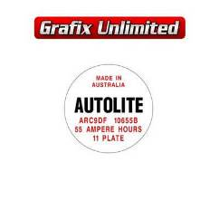 Battery Decal, Autolite 55 Amp