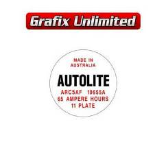 Battery Decal, Autolite 65 Amp